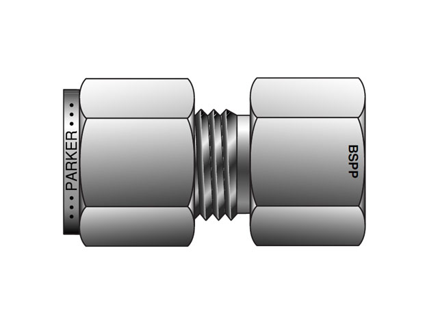 A lok inch tube bspp gauge connector fsc gc