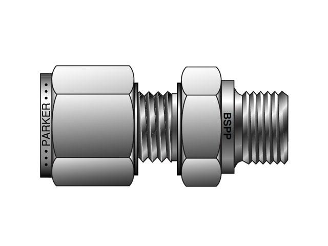 M msc r a lok metric tube bspp male connector