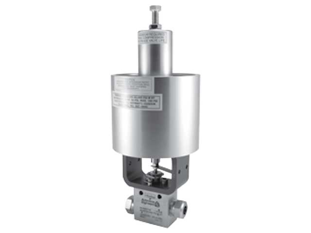 Autoclave Engineers High Pressure Needle Valve with Piston Style Pneumatic Operated Actuator - 60VM