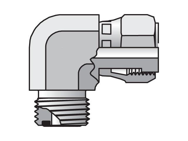 Seal-Lok ORFS 90° Elbow C6LO