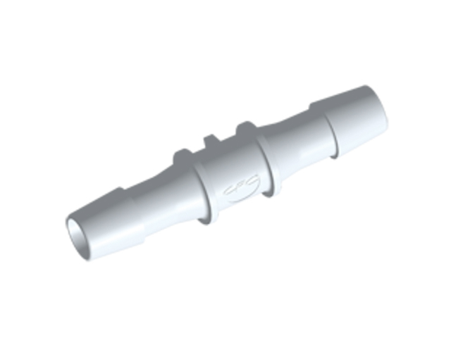 CPC Colder Products HS1270 Straight Fitting 3/8 HB X 3/8 HB Natural PVDF
