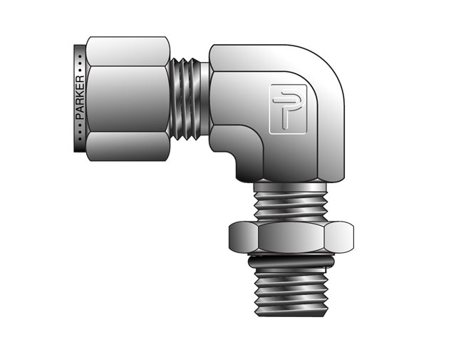 CPI Inch Tube Male SAE Straight Thread Elbow - C5BZ