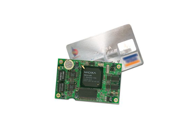 Moxa EM-1220-LX Arm-based industrial computer-on-module with 2 serial ports and 2 LAN ports