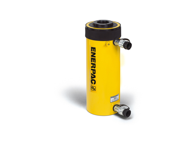 Enerpac RRH-606 Hollow Plunger Hydraulic Cylinder Double Acting 60 Ton Steel Series RRH