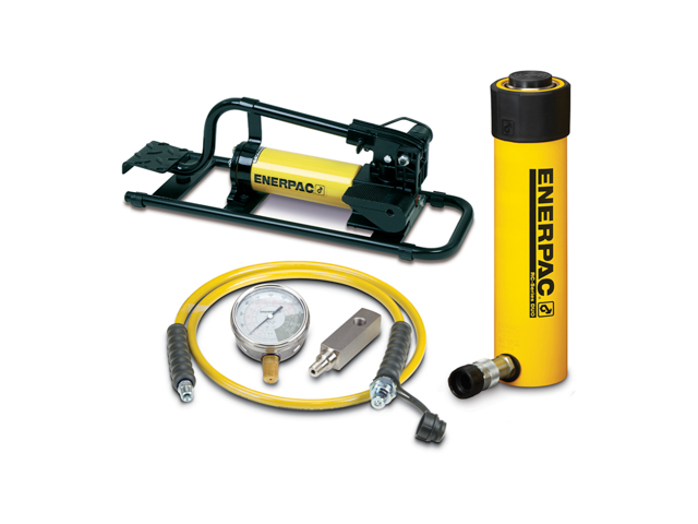 Enerpac SCR-252H Cylinder and Hand Pump Set Single Acting 25 Ton Steel Series SC