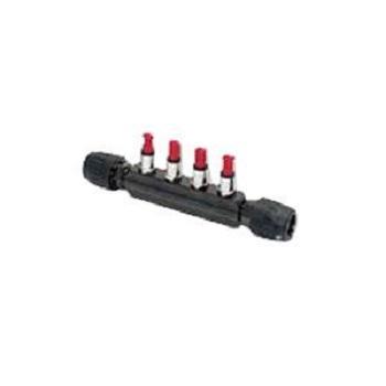 6651 40 12 04 Transair 1-1/2 Valve Manifold 4 Ports 1/2 Inch Brass 232 PSI