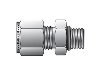 A-LOK Inch Tube Male Connector to SAE Straight Thread - M1SC