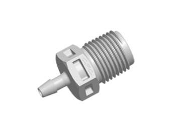 CPC Colder Products N4S3 Straight Fitting 1/8 NPT X 3/32 HB Natural Polypropylene