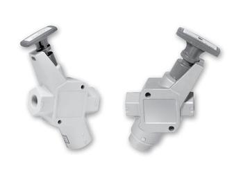 EZ Series Inline Valve Valve - Push/Pull Handle - 3-way 2-position