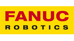Fanuc Robotics yellow and red logo