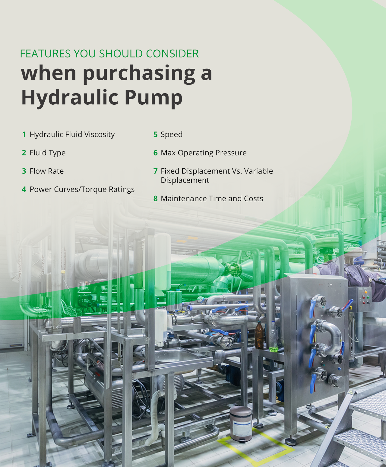Features you should consider when purchasing a hydraulic pump