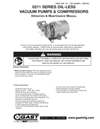 0211 Series Oil-less Vacuum Pumps and Compressors Operation & Maintenance Manual