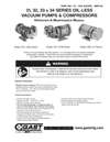 1531-0532-1032-1532-2032-3032-0533-1033-1034 & 1534 Series Oilless Vacuum Pumps and Compressors Operation & Maintenance Manual