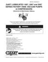 1067-2067 & 2567 Series Lubricated Vacuum Pumps and Compressors Operation & Maintenance Manual