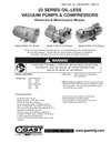 0323-0523-0823-1023 & 1423 Series Oilless Vacuum Pumps and Compressors Operation & Maintenance Manual