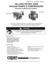 0240-0440 & 0740 Series Oil-less Vacuum Pumps and Compressors Operation & Maintenance Manual