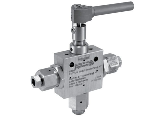 3BD3S20M6 Autoclave Engineers 3-Way Diverter Ball Valve - 3BD3