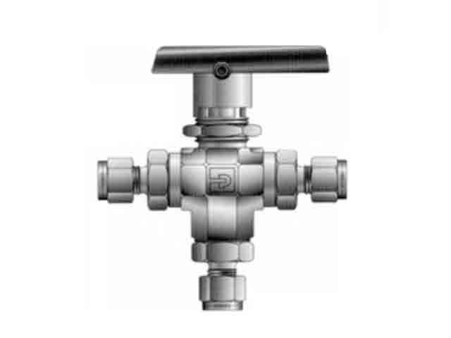 8A-B8XJ-SSP-KRY Ball Valve - Three-way - B