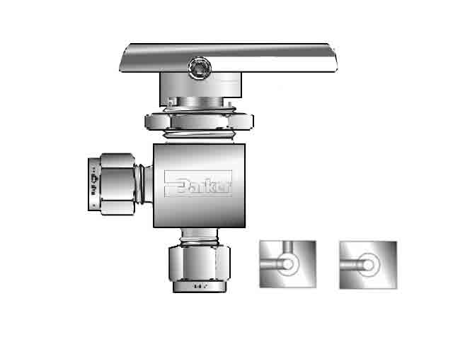 2A-MB2APFA-SSP Ball Valve - Two-way - Angle - MB