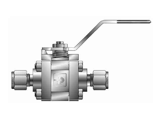 4Z-SWB4L-RT-T-SS Ball Valve - Two-way - Inline - Swing-out - SWB