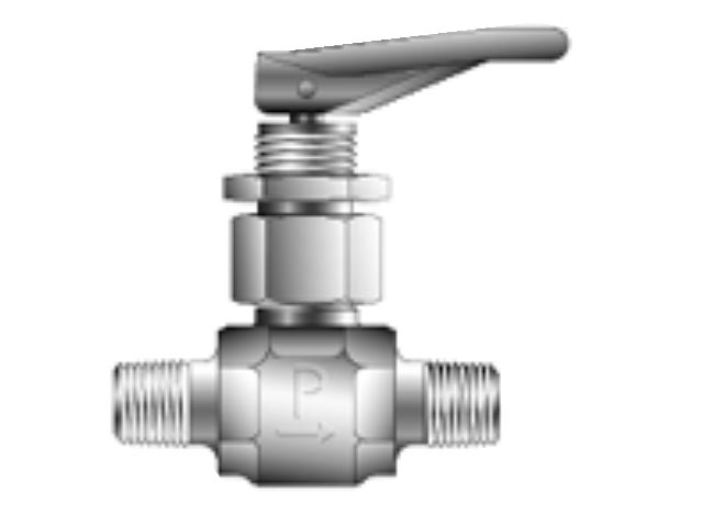 2M-V4LQ-SSP-Y Toggle Valve - Manual - Inline - VQ4
