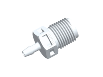 N4S330 CPC Colder Products N4S330 Straight Fitting 1/8 NPT X 3/32 HB White Nylon